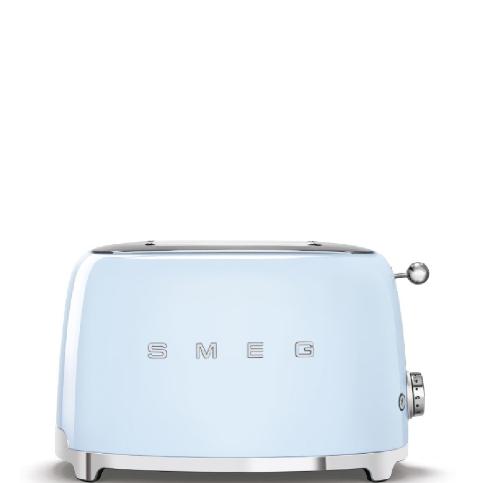 Smeg Smeg Broodrooster TSF01PBEU, 2x2 pastelblauw