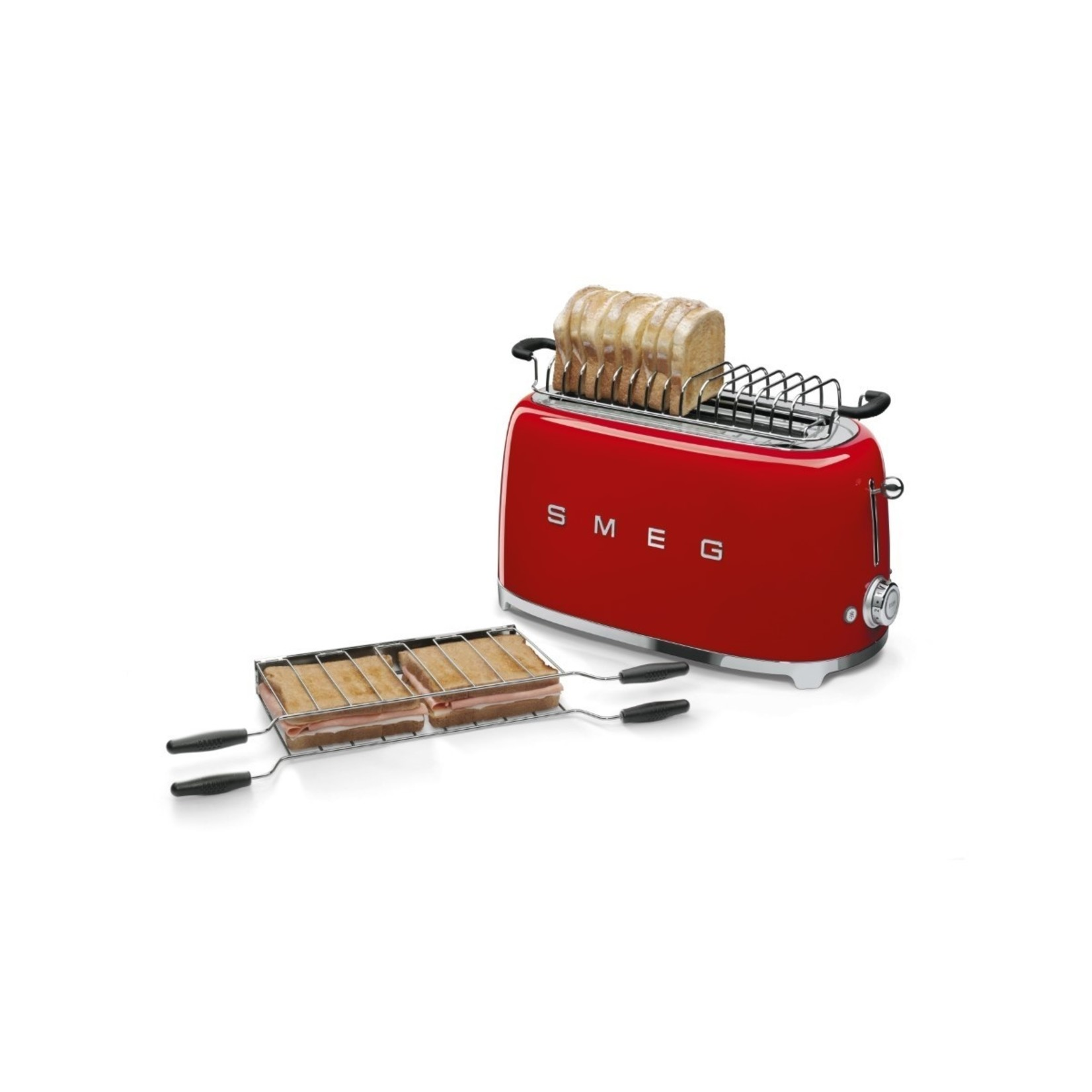 Smeg Smeg Broodrooster TSF02RDEU, 2x4 rood
