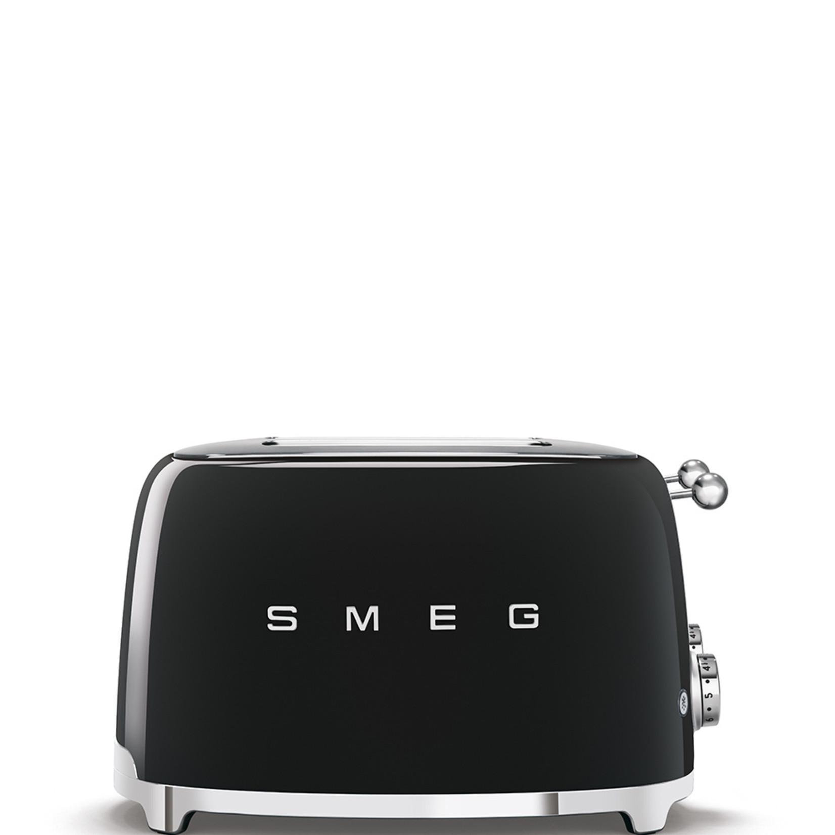 Smeg Smeg Broodrooster TSF03BLEU, 4x4 zwart