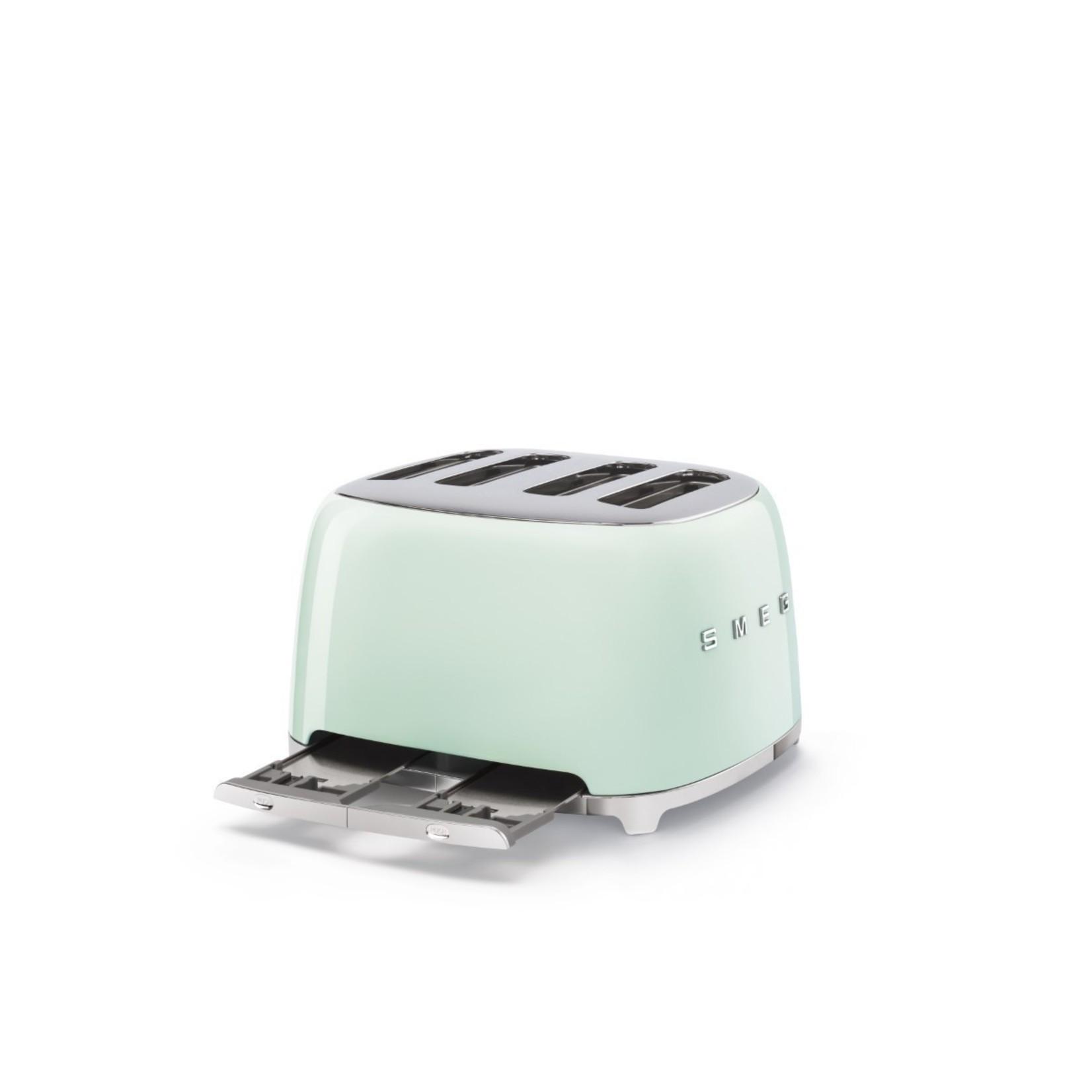 Smeg Smeg Broodrooster TSF03PGEU, 4x4 watergroen