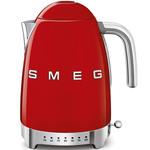 Smeg Waterkoker, 1,7 liter, variabel, rood