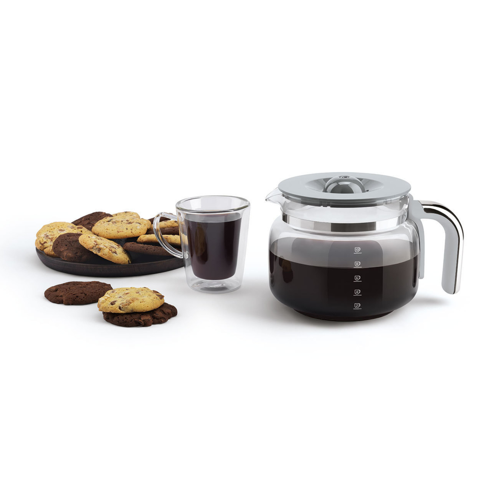 Smeg Smeg Koffiezetapparaat DCF02BLEU, zwart