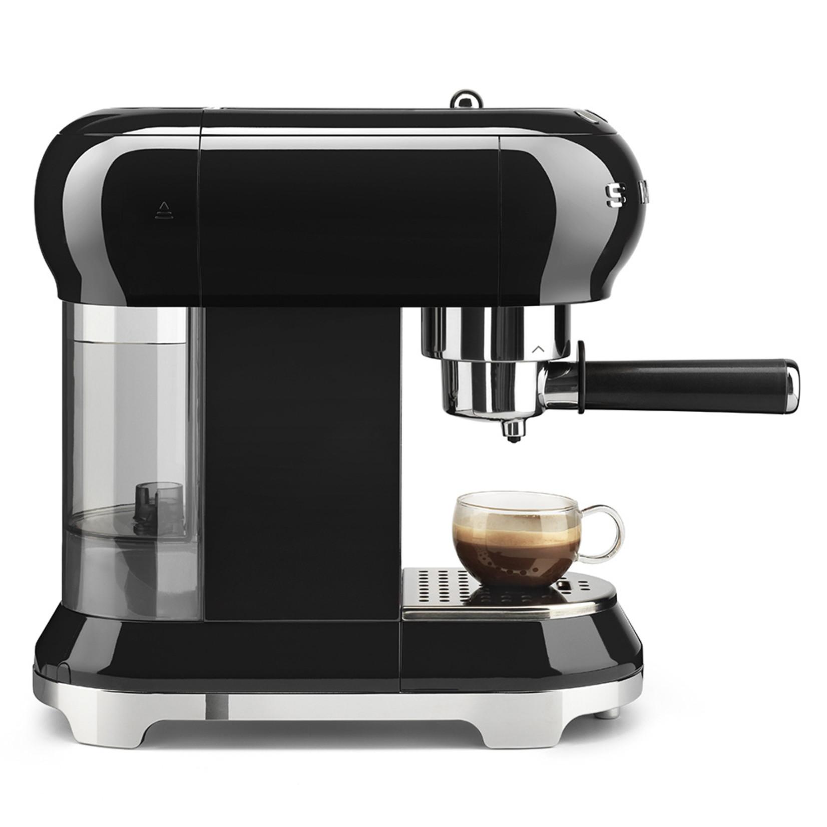 Smeg Smeg Espressomachine ECF01BLEU, zwart