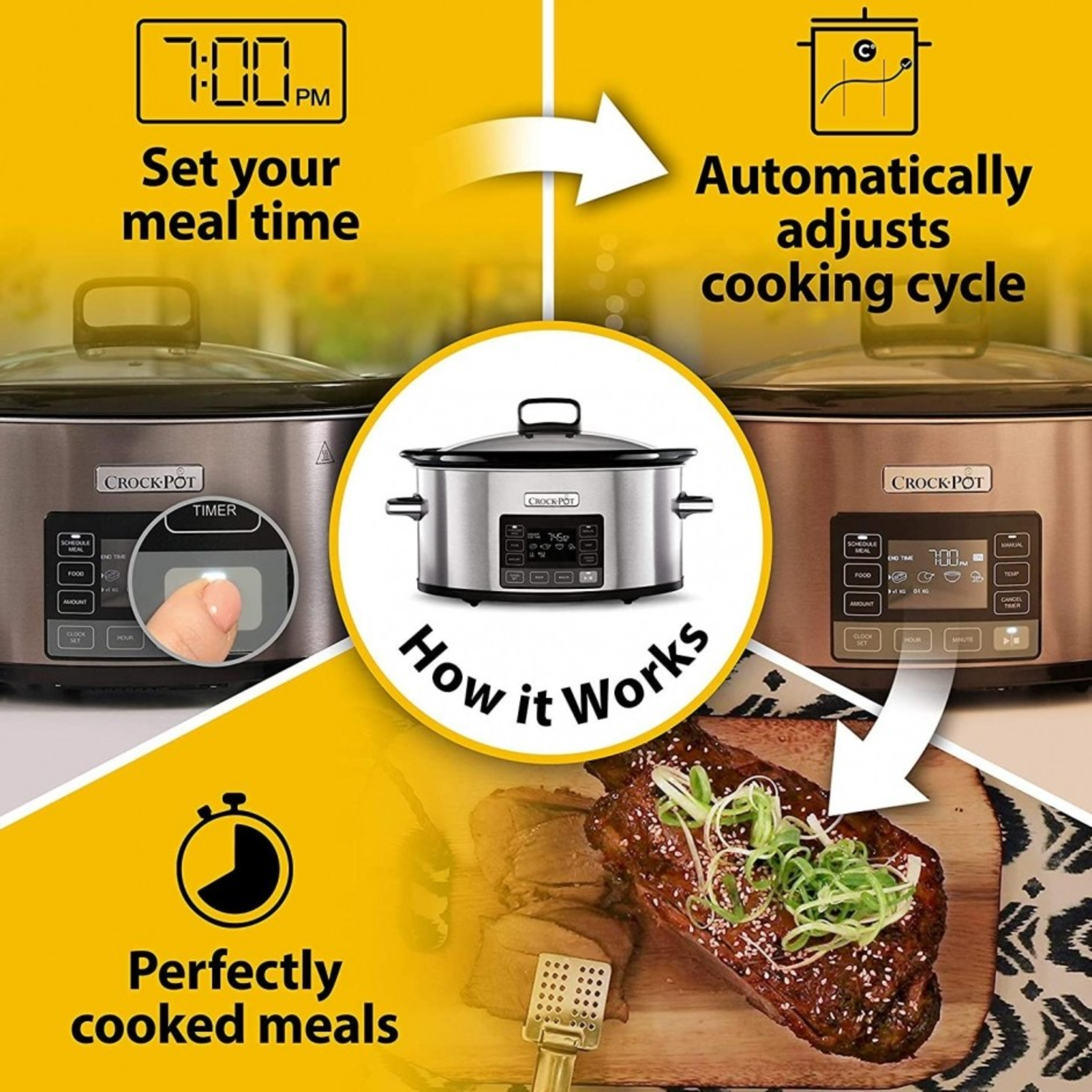 Crock-Pot Crock-pot Slowcooker CR066  - Time Select functie