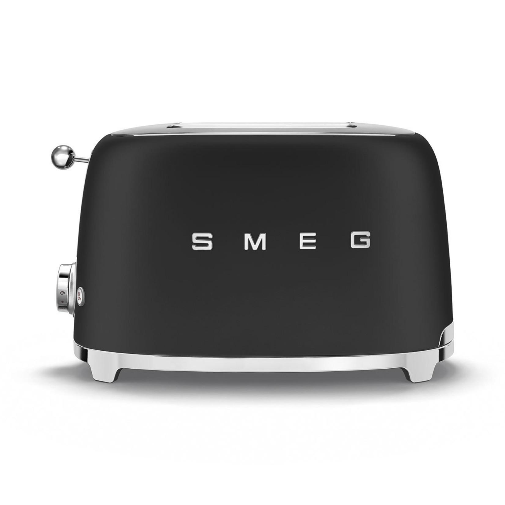 Smeg Smeg Broodrooster TSF01BLMEU 2x2 mat zwart