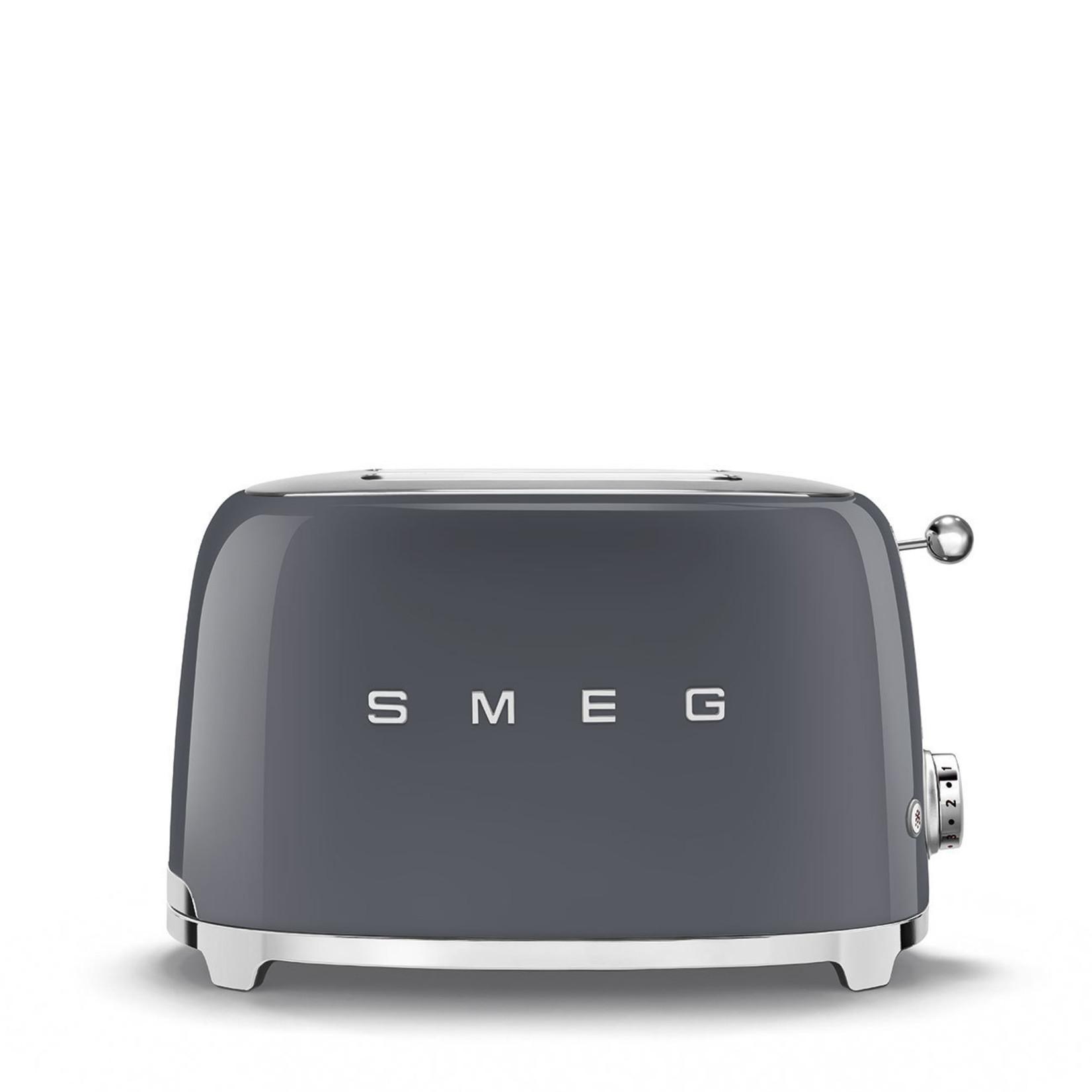 Smeg Smeg Broodrooster TSF01GREU 2x2 leigrijs