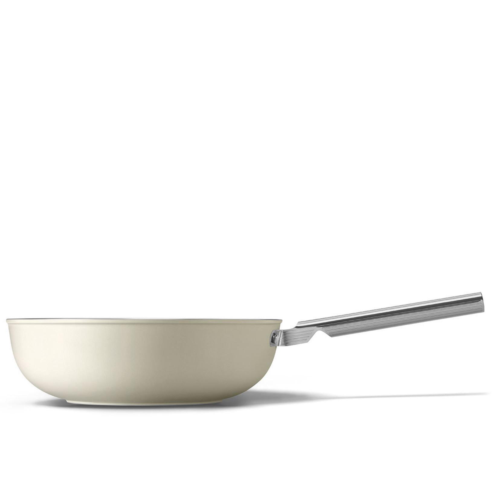 Smeg SMEG Wok 30 cm, anti-aanbaklaag, crème mat