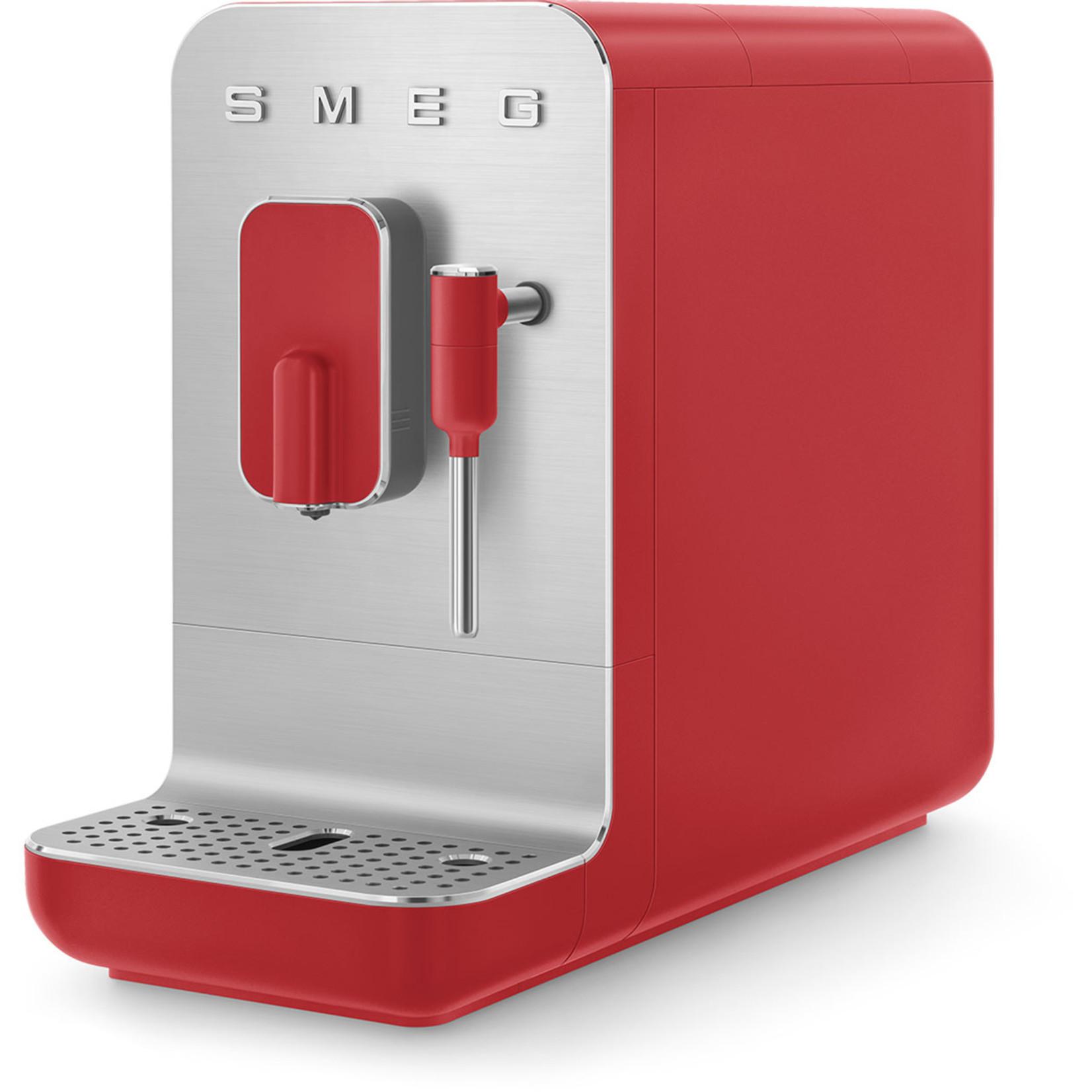Smeg Smeg espressomachine medium, mat rood, met stoomfunctie