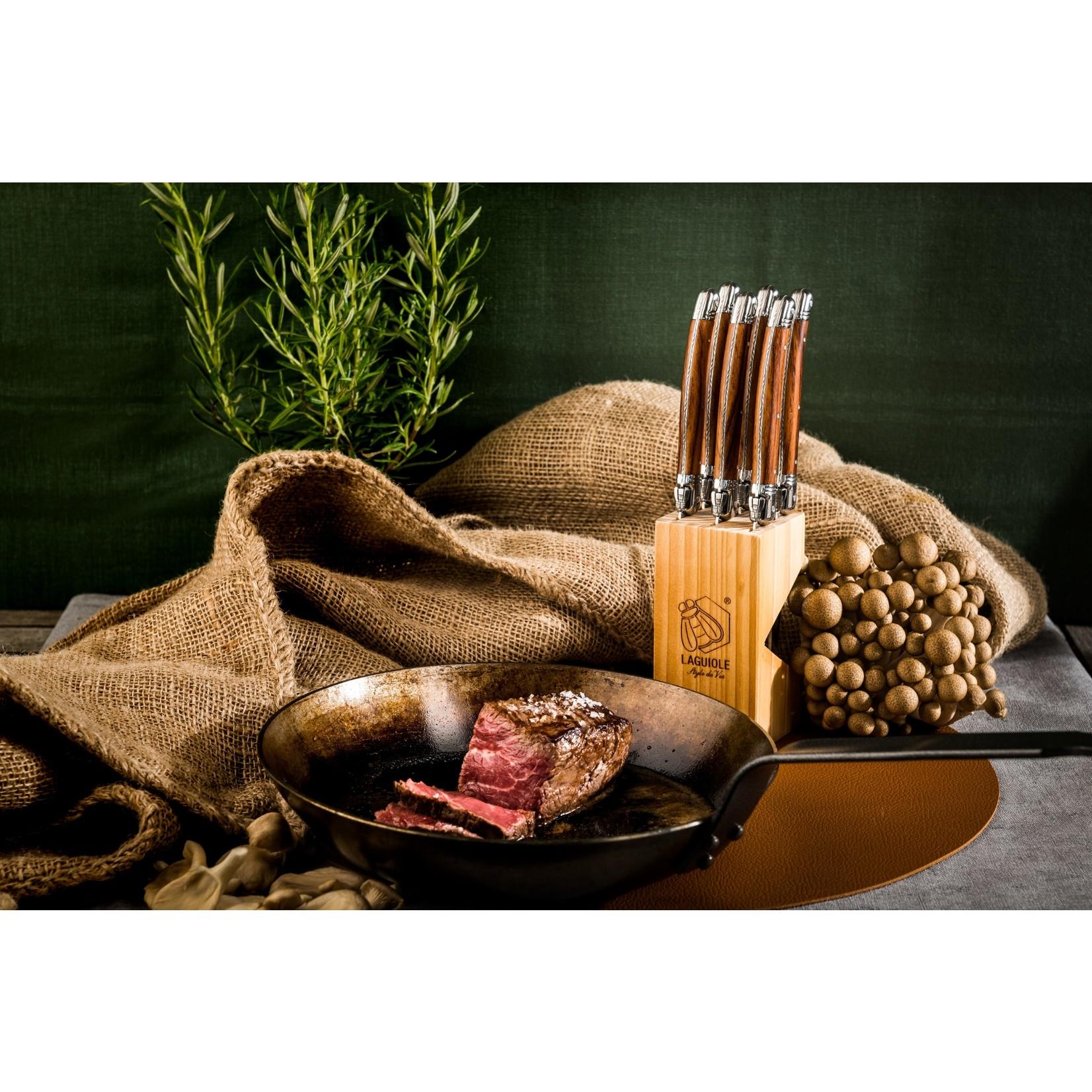 Laguiole Style de Vie Style de Vie Premium Line steakmessenset 6-delig Wood 1,8mm