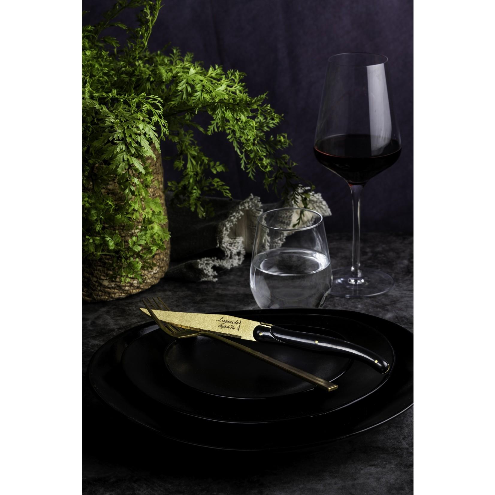 Laguiole Style de Vie Laguiole Style de Vie Prestige Line steakmessenset 6-delig goud