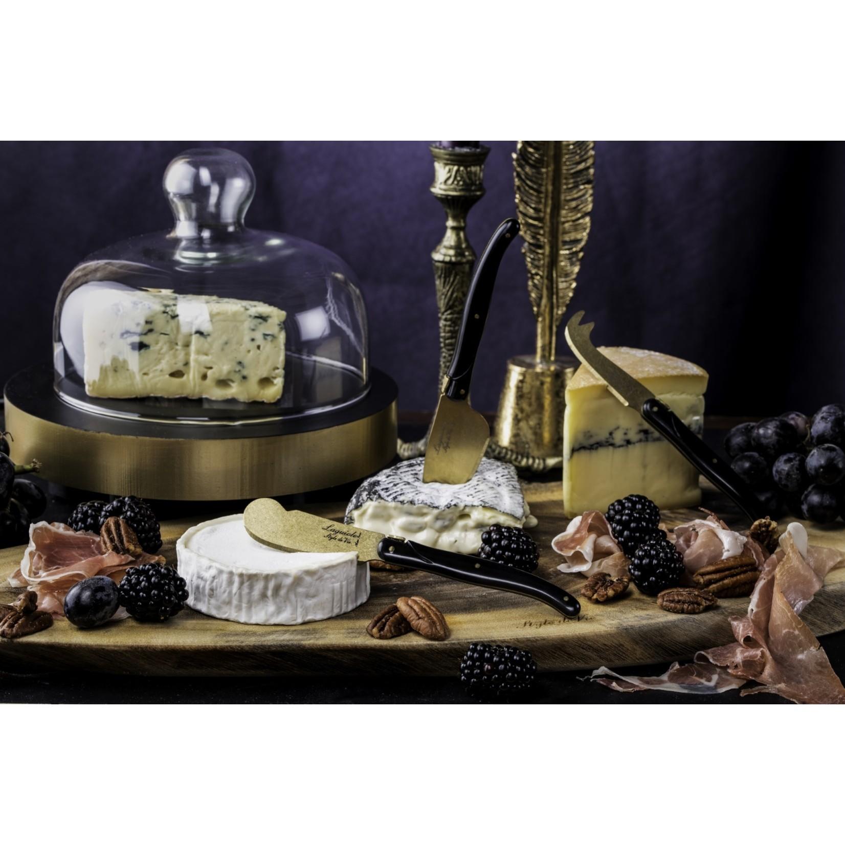 Laguiole Style de Vie Laguiole Style de Vie Prestige Line kaasmessenset 3-delig goud