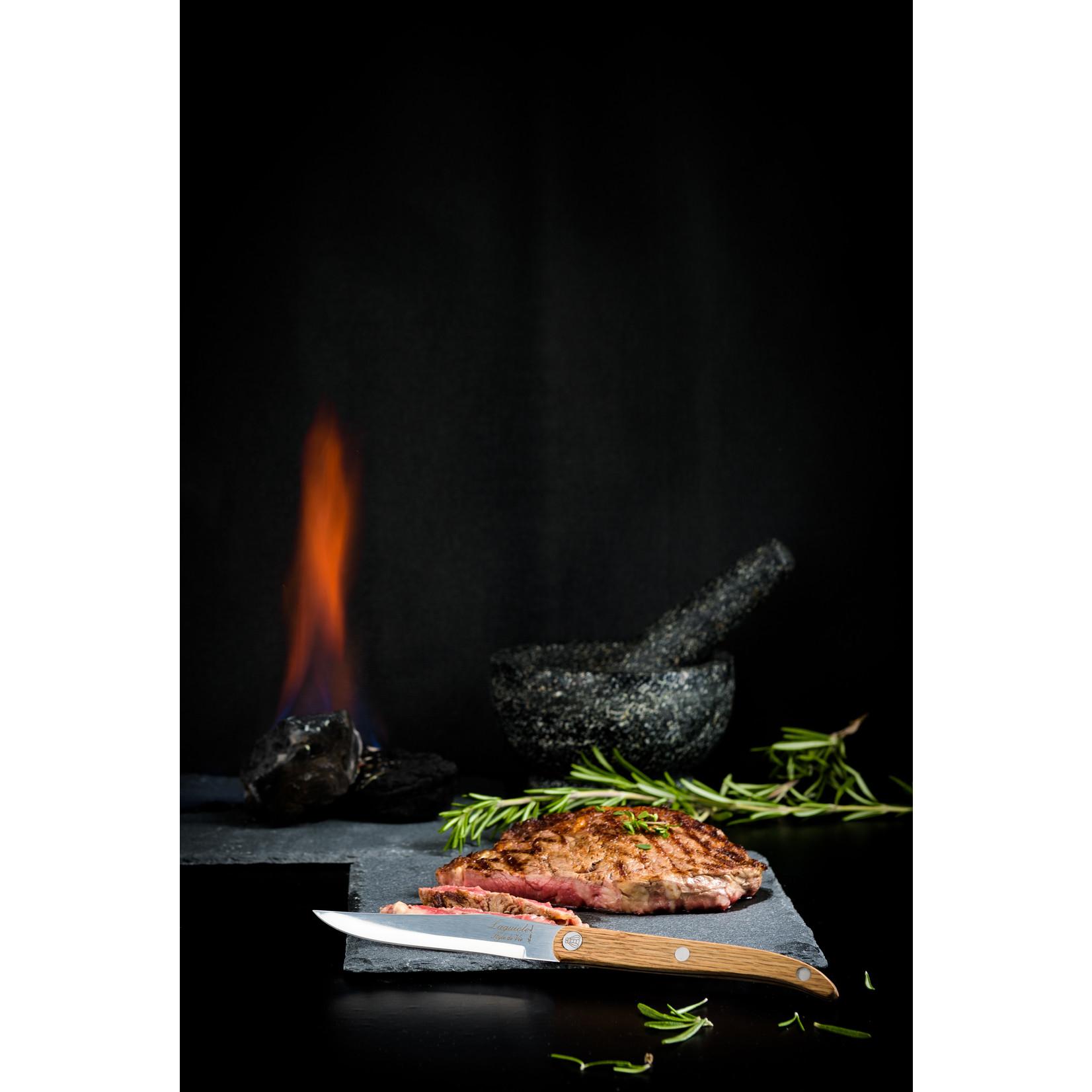 Laguiole Style de Vie Laguiole Style de Vie Innovation Line steakmessenset 6-delig glad eikenhout