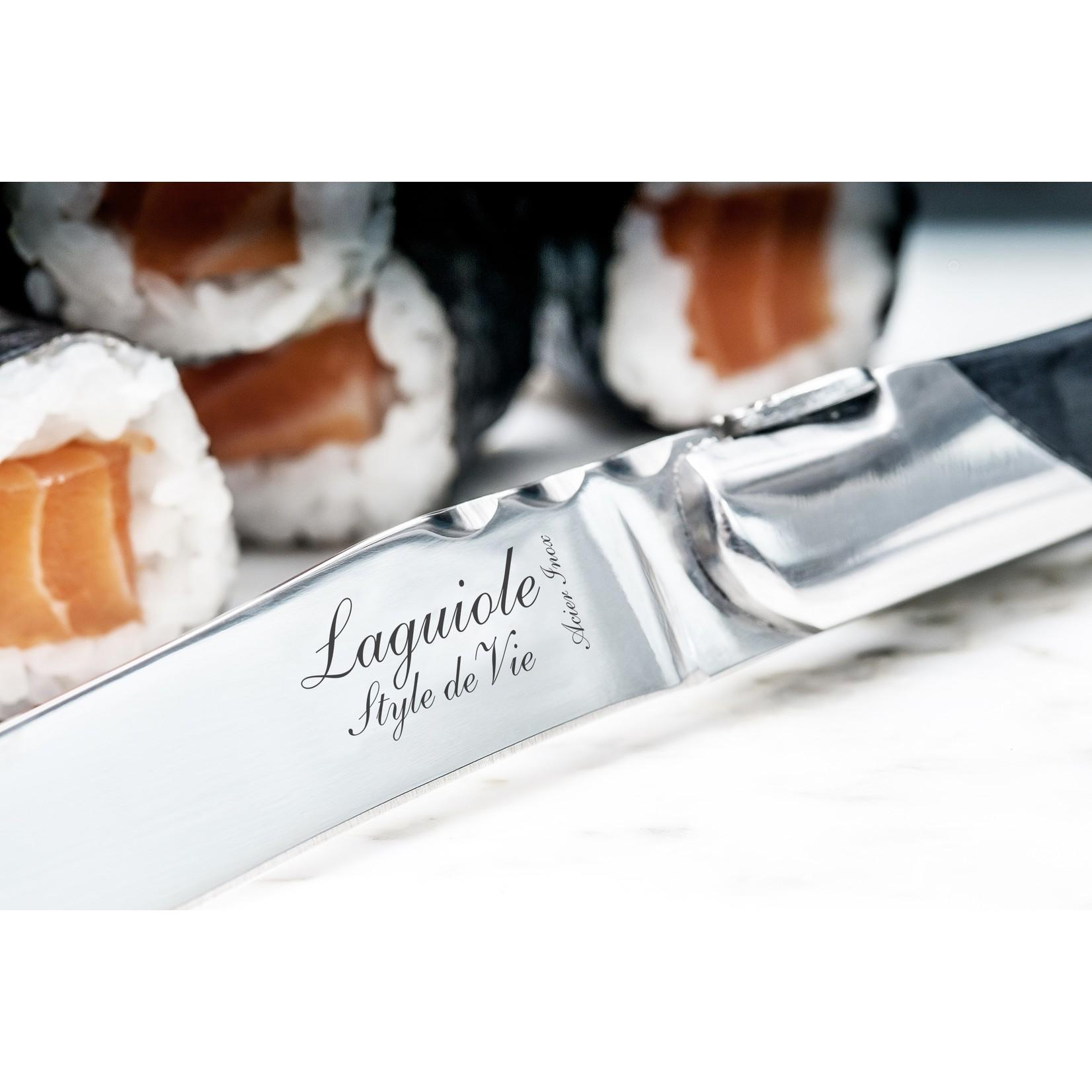 Laguiole Style de Vie Laguiole Style de Vie Luxury Line Steakmessenset 6-delig ebbenhout