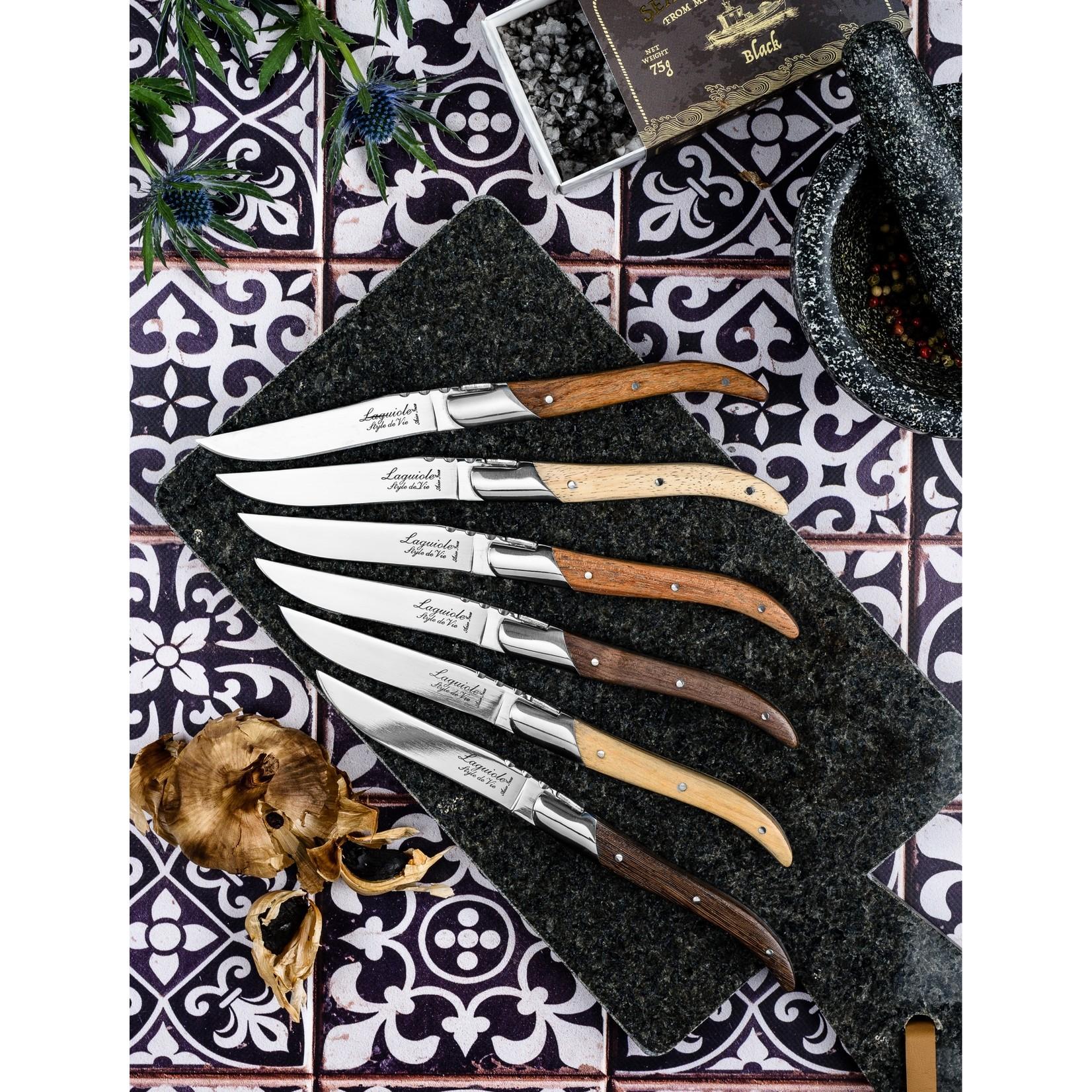 Laguiole Style de Vie Laguiole Style de Vie Luxury Line Steakmessenset 6-delig gemengd hout