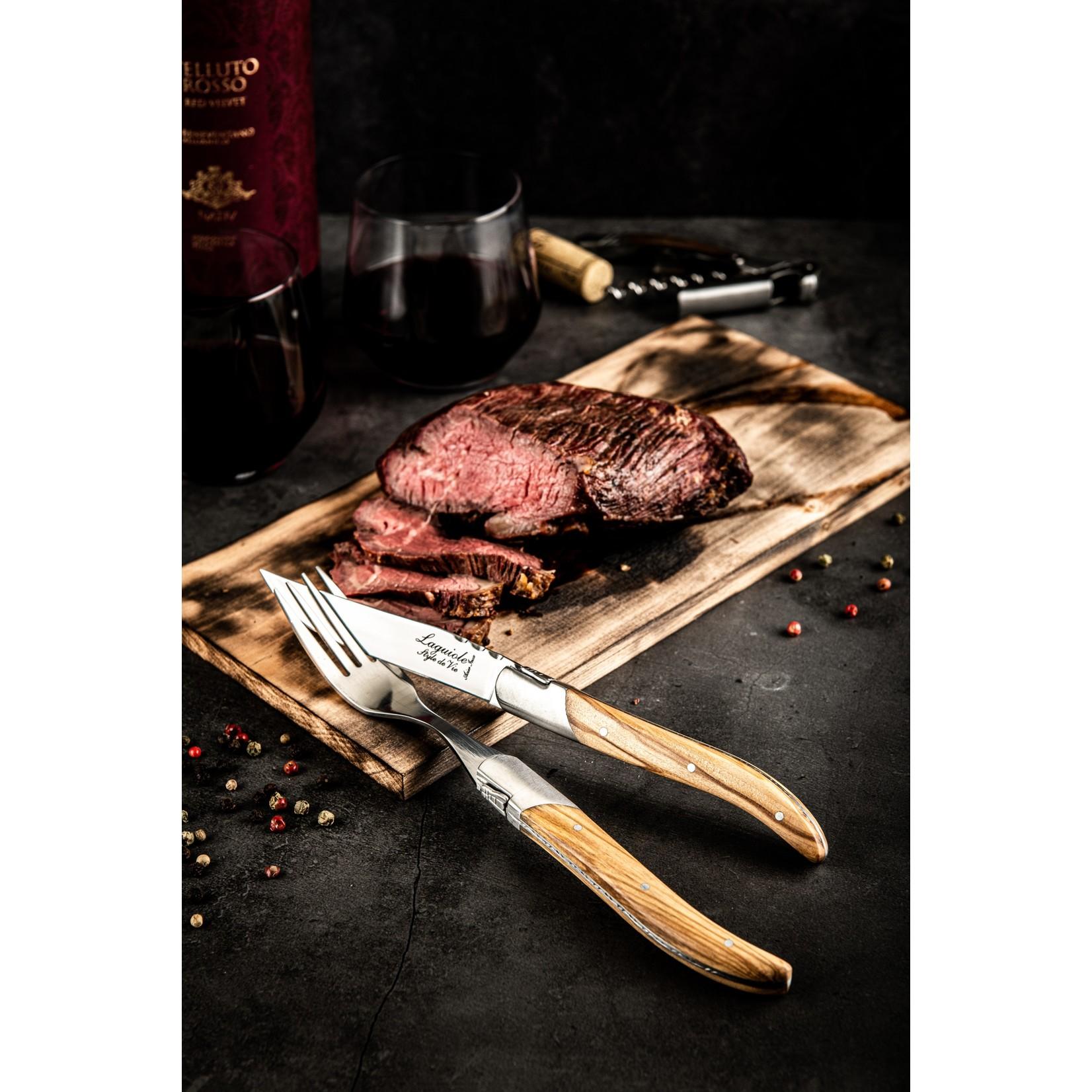 Laguiole Style de Vie Laguiole Style de Vie Luxury Line vorken 6-delig olijfhout