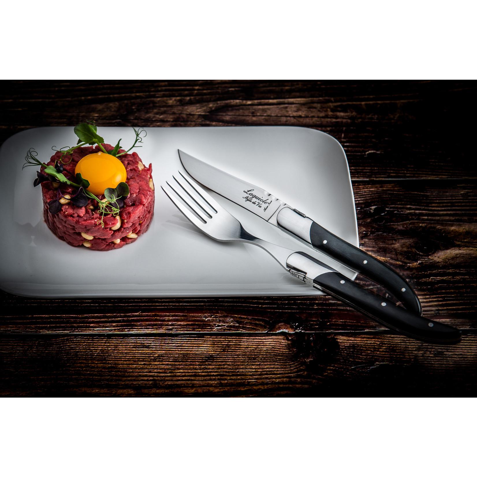 Laguiole Style de Vie Laguiole Style de Vie Luxury Line vorken 6-delig ebbenhout