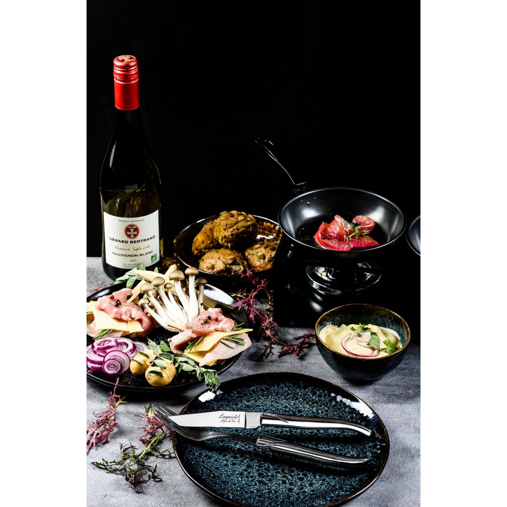 Laguiole Style de Vie Laguiole Style de Vie Luxury Line vorken (set van 6) RVS