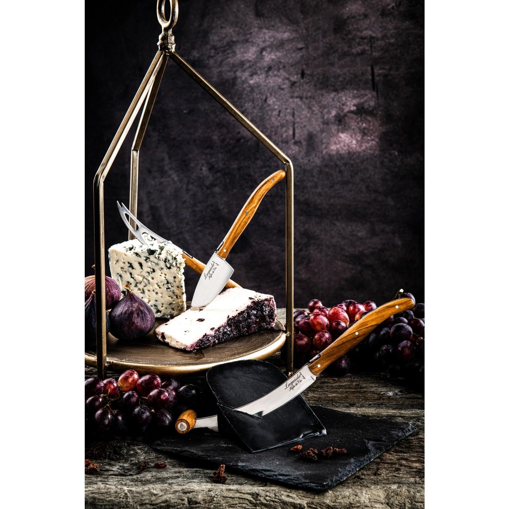 Laguiole Style de Vie Laguiole Style de Vie Luxury Line Kaasmessenset olijfhout 3-delig V2