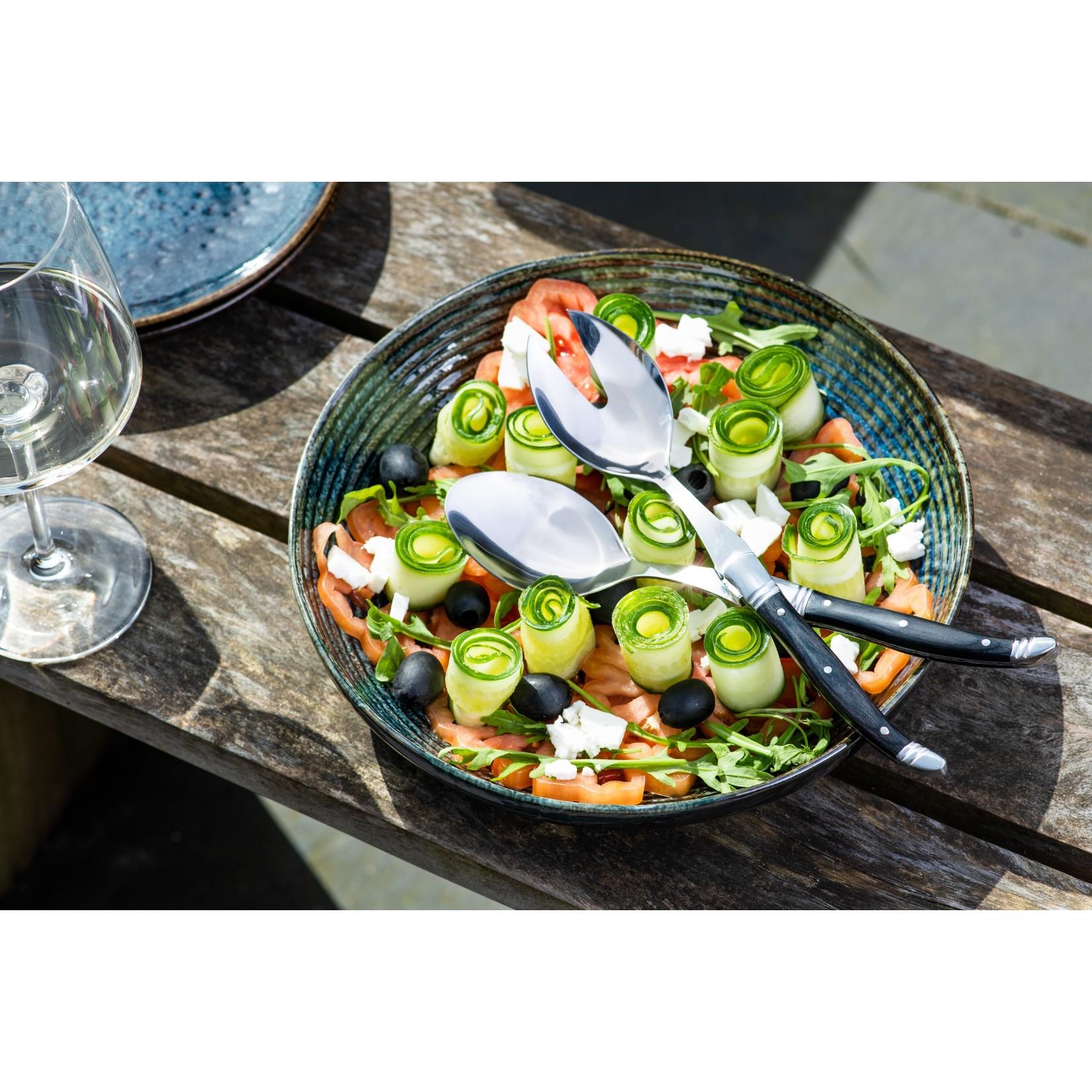 Laguiole Style de Vie Laguiole Style de Vie Luxury Line saladecouvert 2-delig ebbenhout