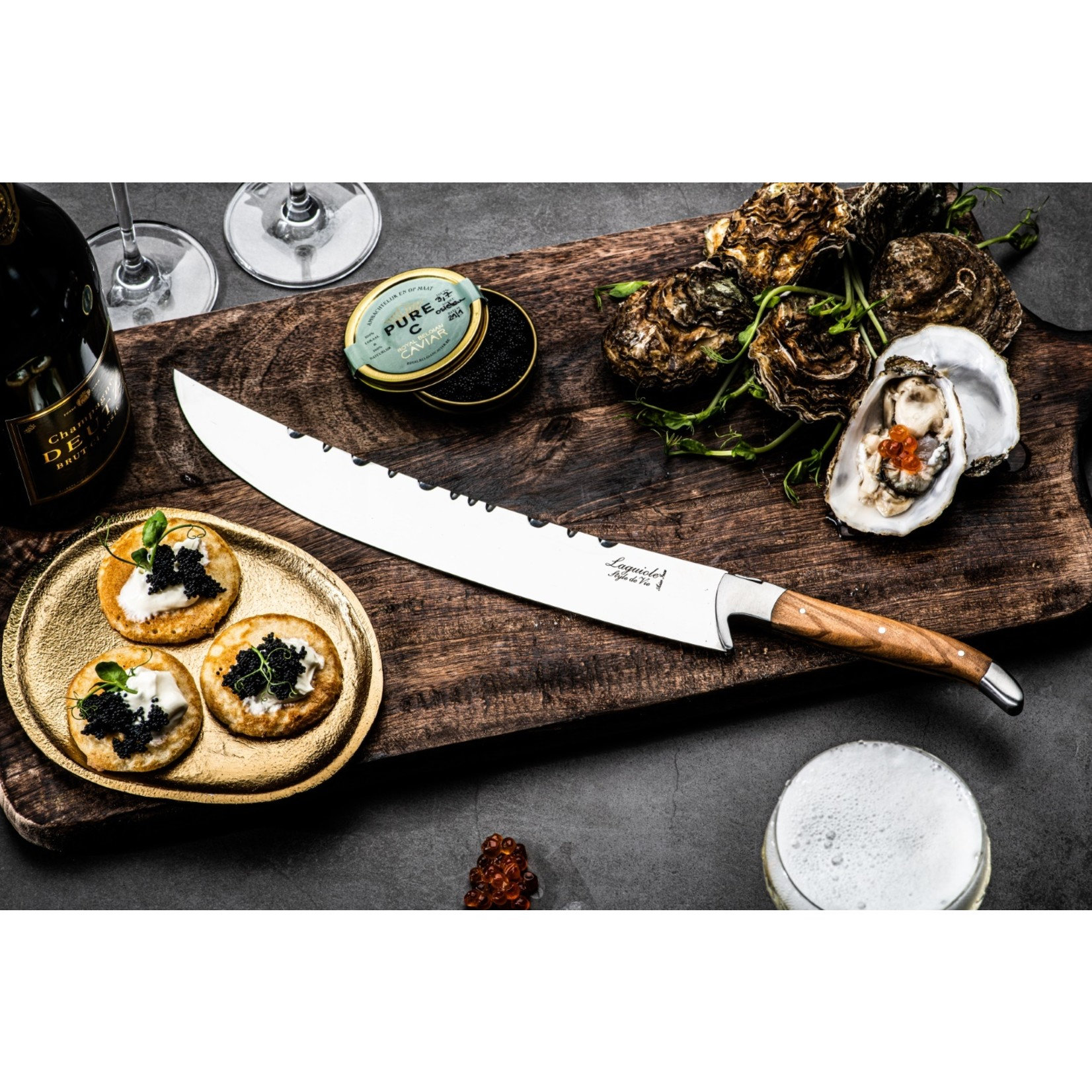 Laguiole Style de Vie Laguiole Style de Vie Luxury Line champagnezwaard olijfhout