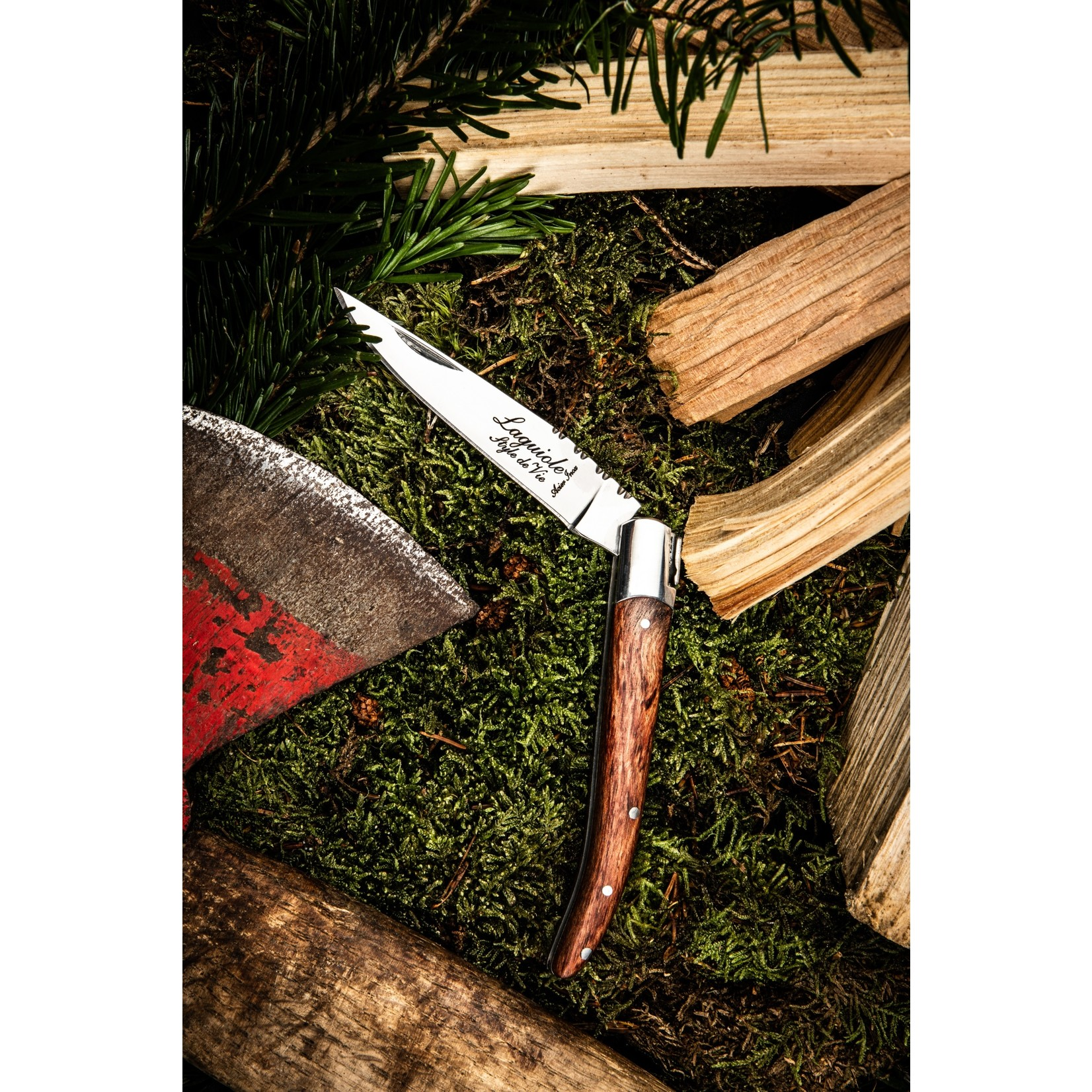 Laguiole Style de Vie Laguiole Style de Vie zakmes rozenhout