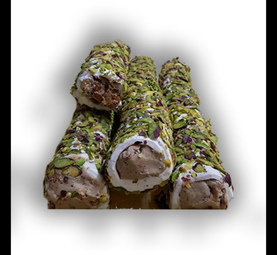 Turks fruit met Noten crème vulling en Pistache 500gr