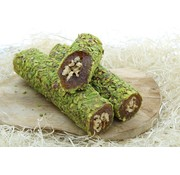 Turkish Delight filled with walnuts , fig blend and Pistachio topping 500 grams
