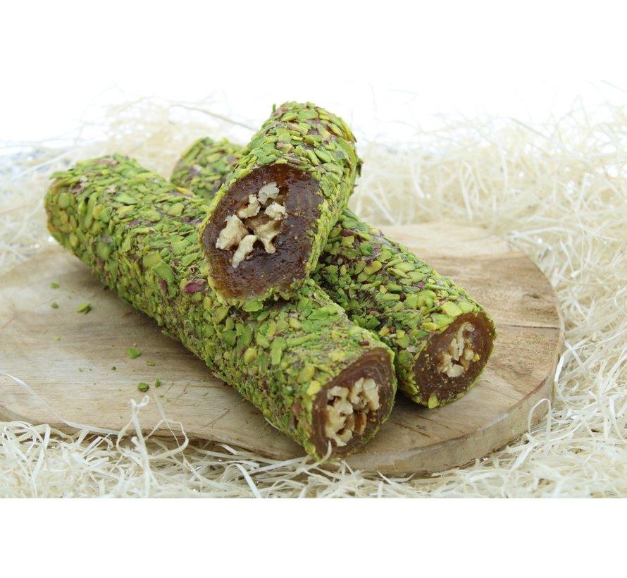 Turks Fruit gevuld met walnoten en Pistache topping 500gram