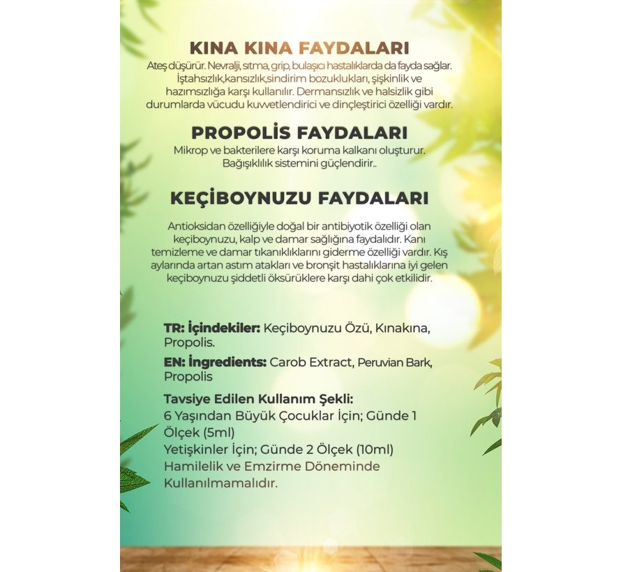 Şenay Organic Carob Propolis