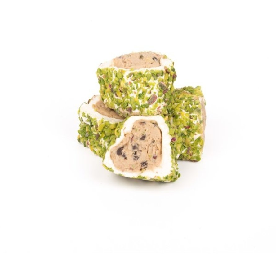 Turkish Delight with Halep Rice filling and Pistachio 500 grams