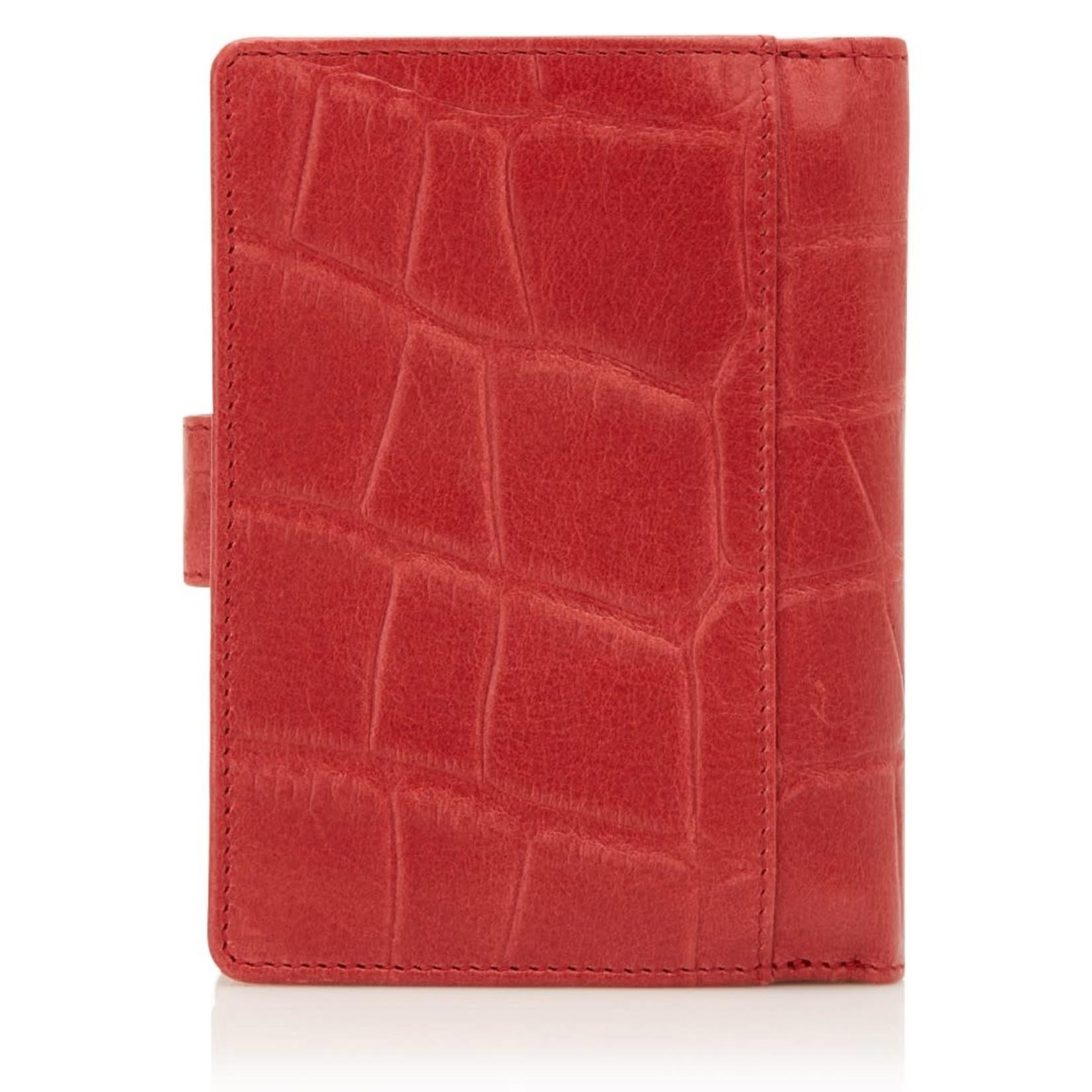 Castelijn en Beerens Portemonnee Cocco met rits 6 pasjes RFID Rood