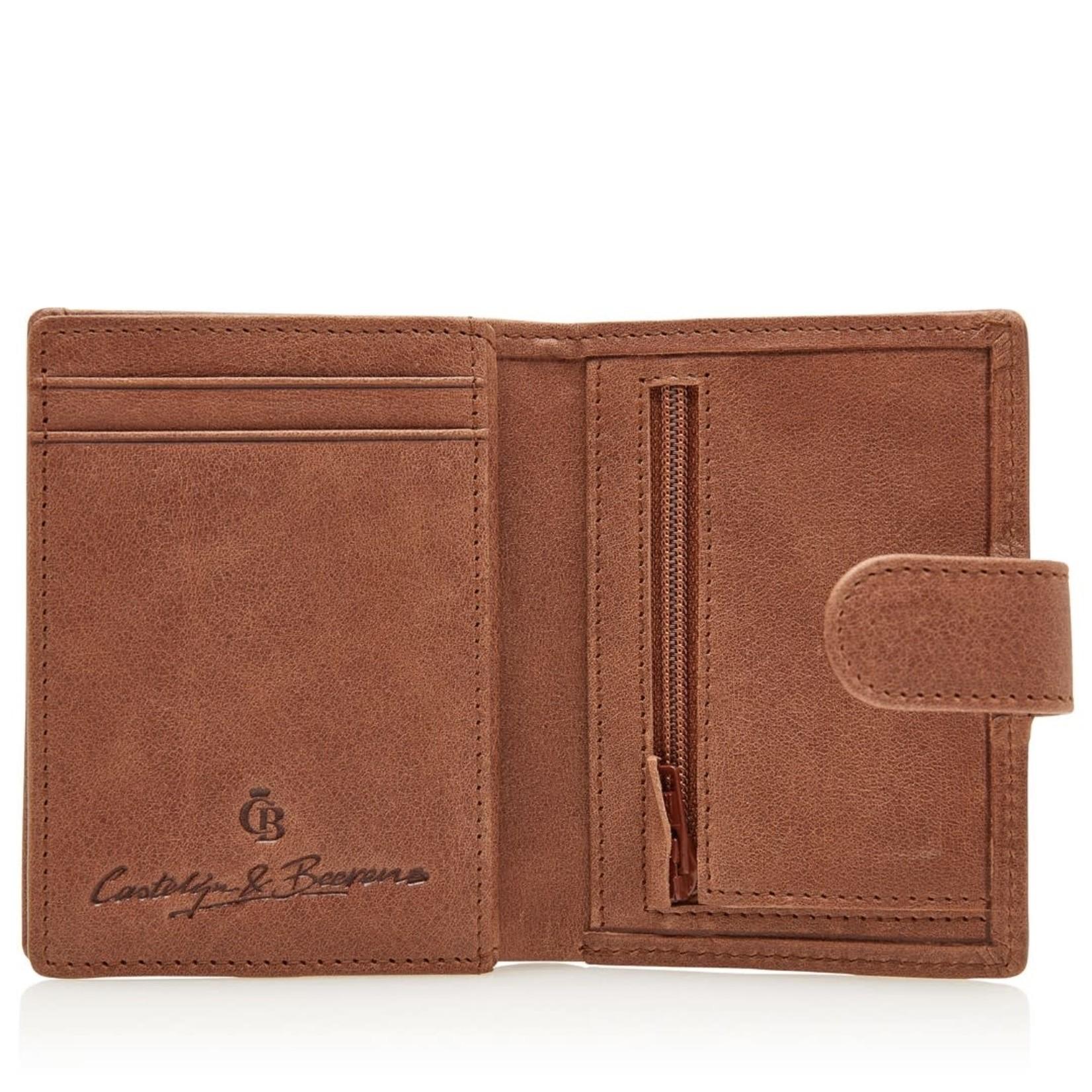 Castelijn en Beerens Portemonnee 10 pasjes RFID Cognac