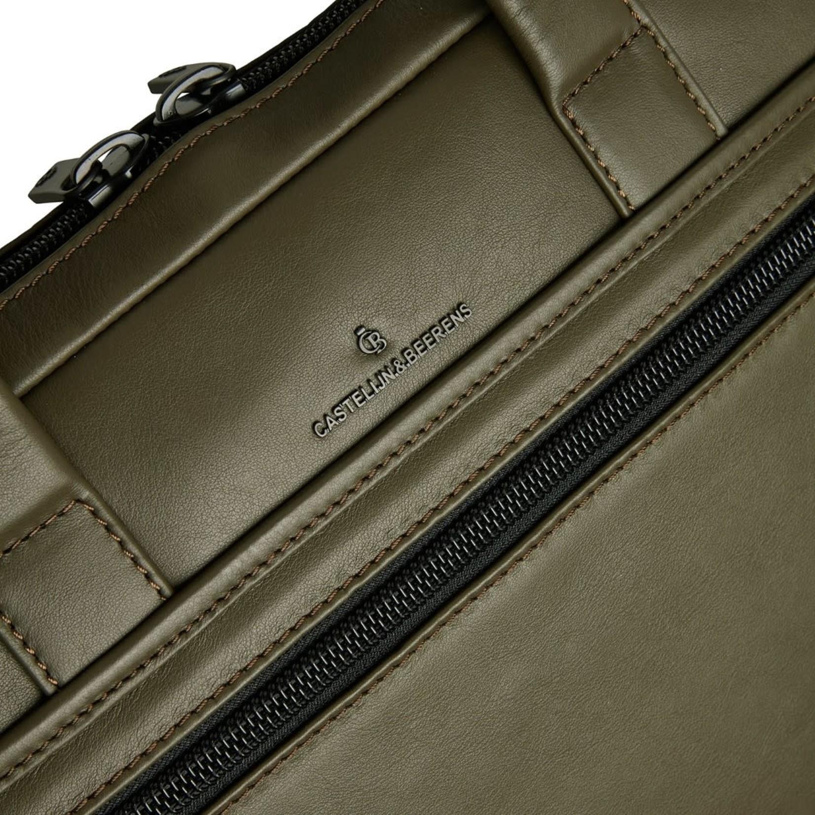 """Castelijn en Beerens Echo laptoptas 15,6""""+ tablet RFID Groen"""
