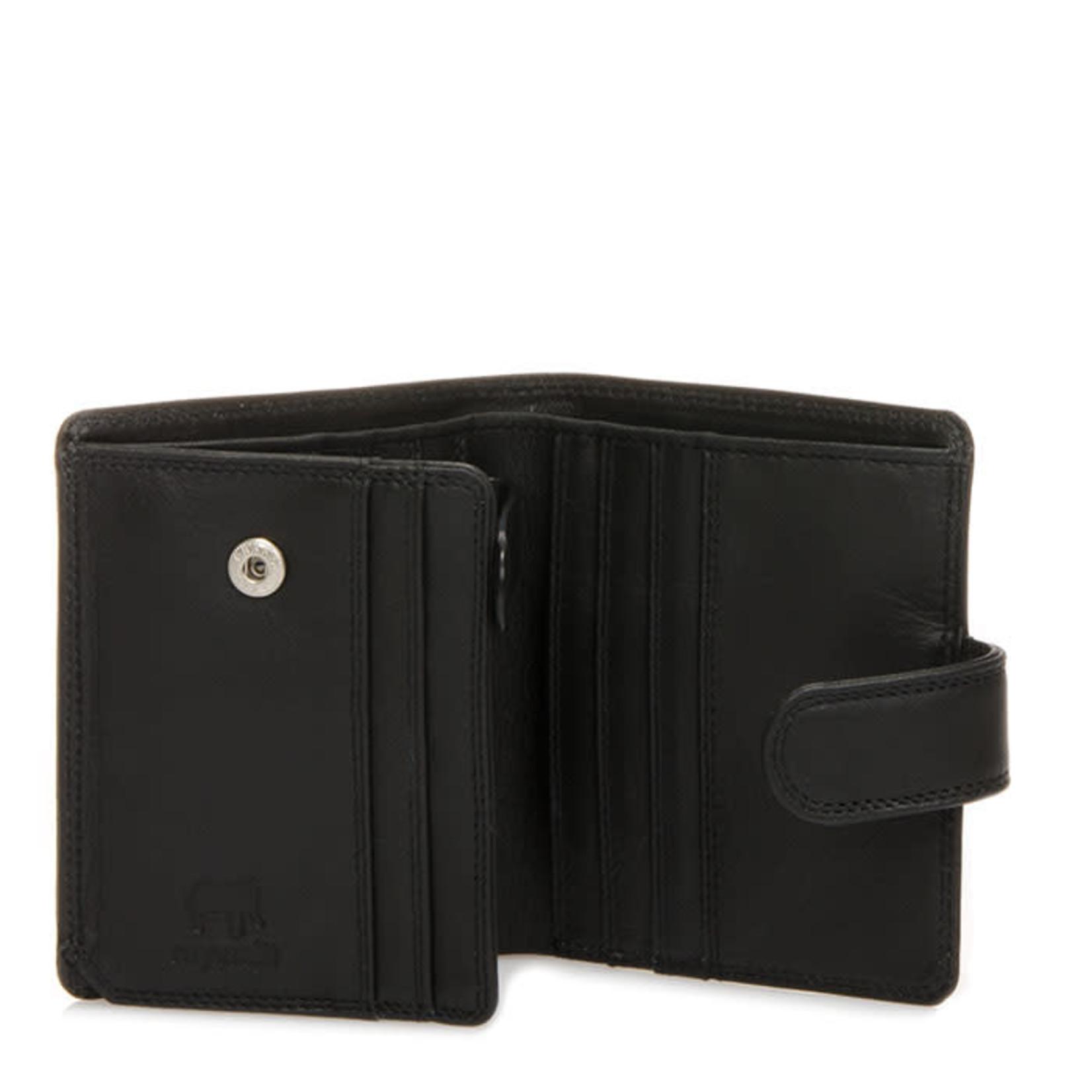 MyWalit Tri Fold Tab Wallet Black