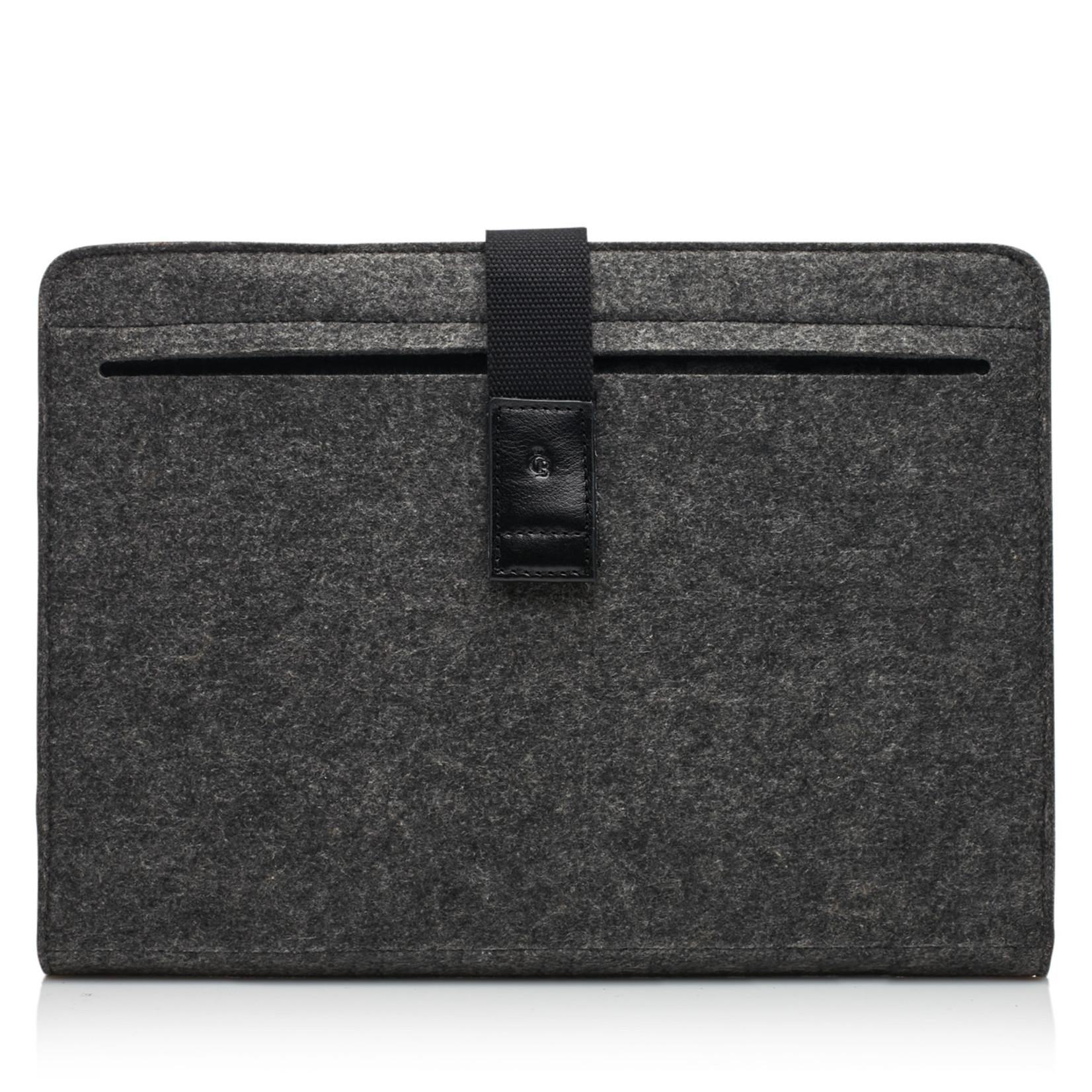 Castelijn en Beerens Laptopsleeve Grijs met zwart bandje