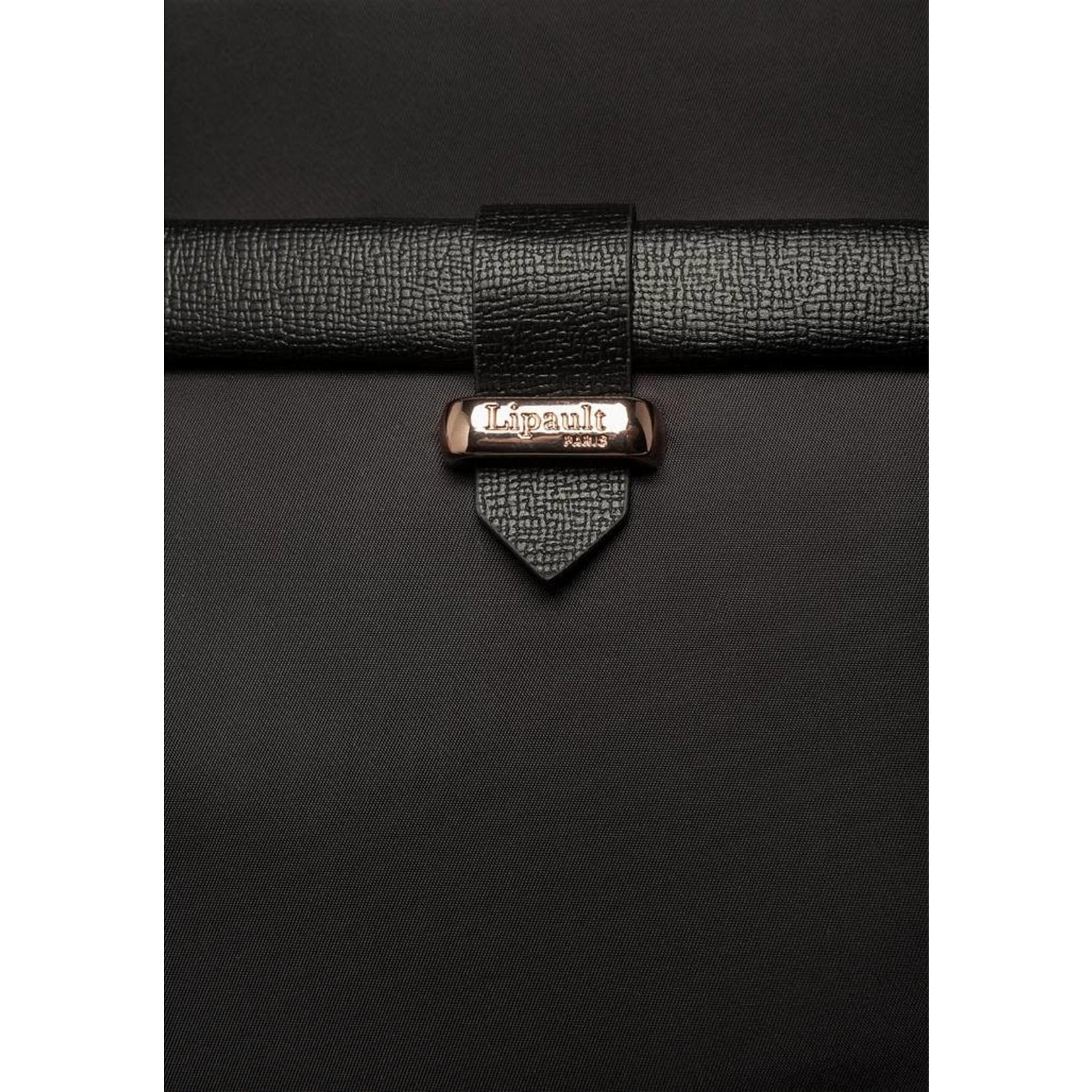 Lipault Plume Aven Spinner 55/20 Black/Gold