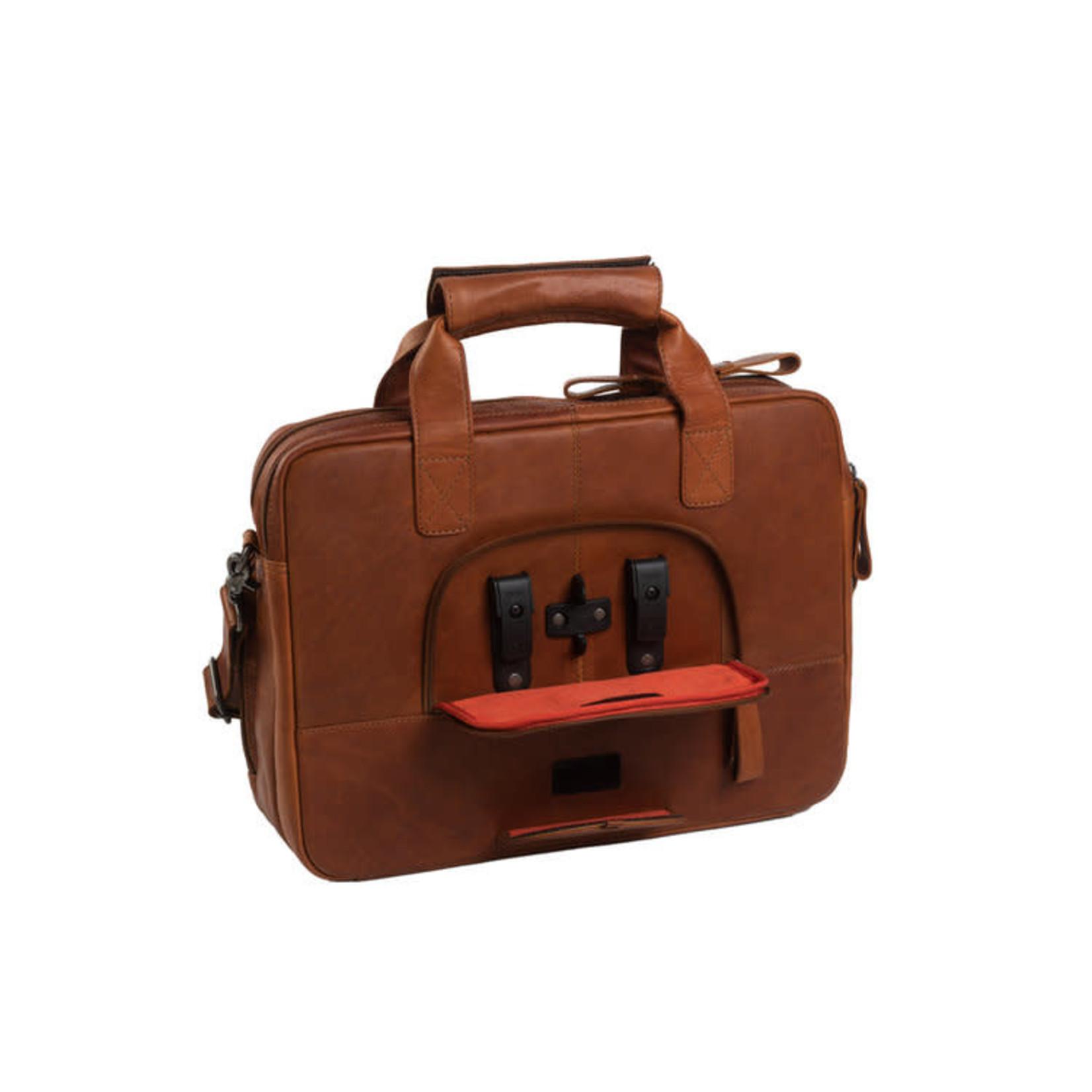 Chesterfield Laptop Fietstas Geneva Cognac
