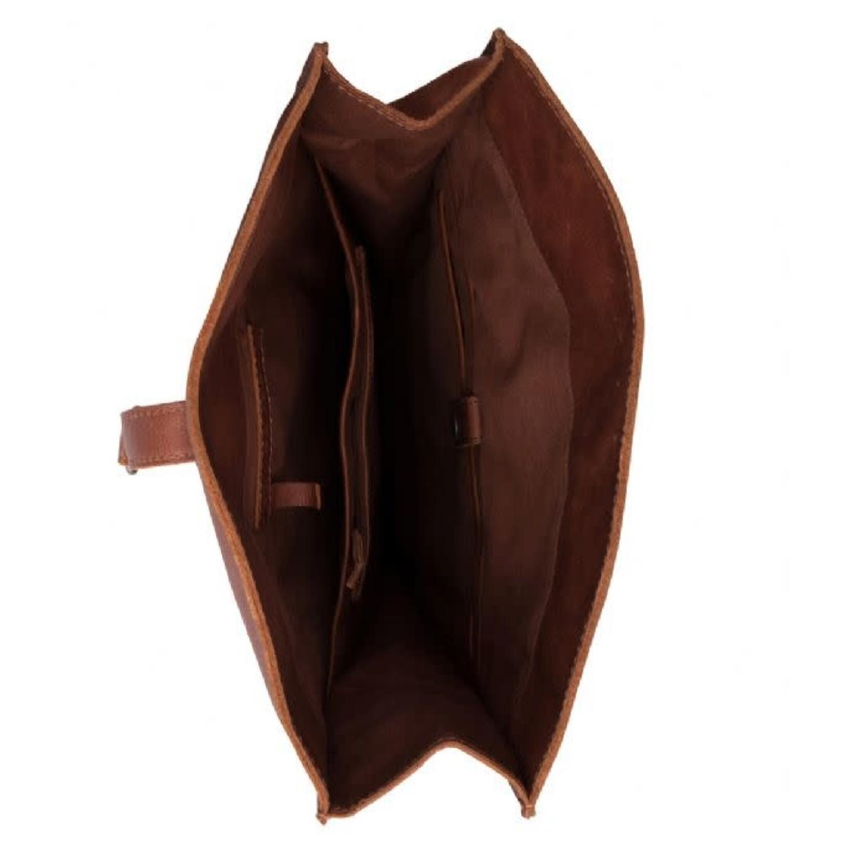 """Cowboysbag Backpack Doral 15"""" Cognac"""