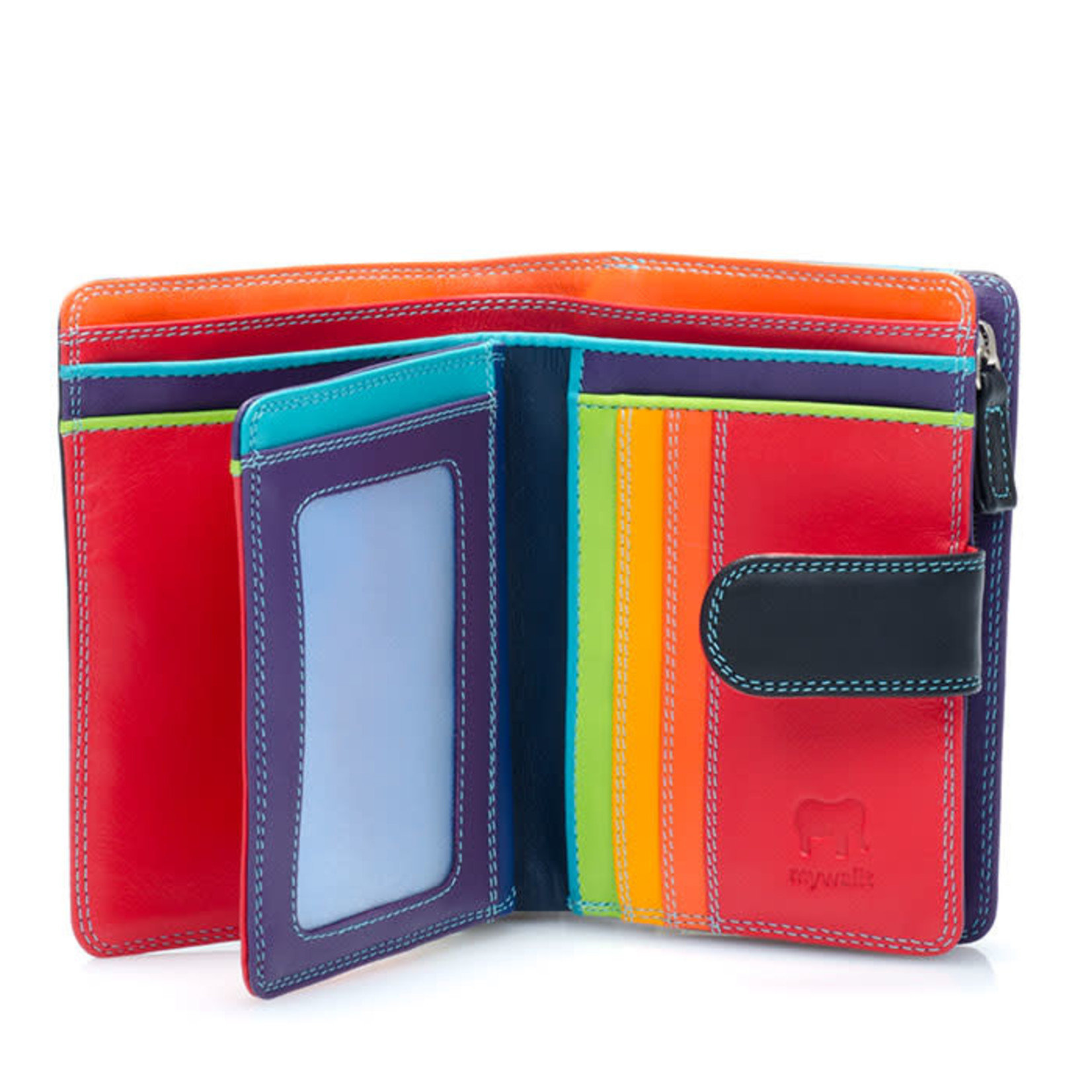 MyWalit Medium 10 C/C Wallet w/Zip Purse Black/Pace