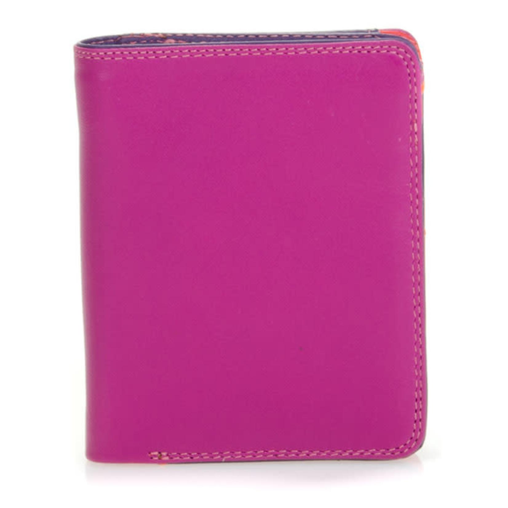 MyWalit Medium Wallet w/Zip Around Purse Sangria Multi