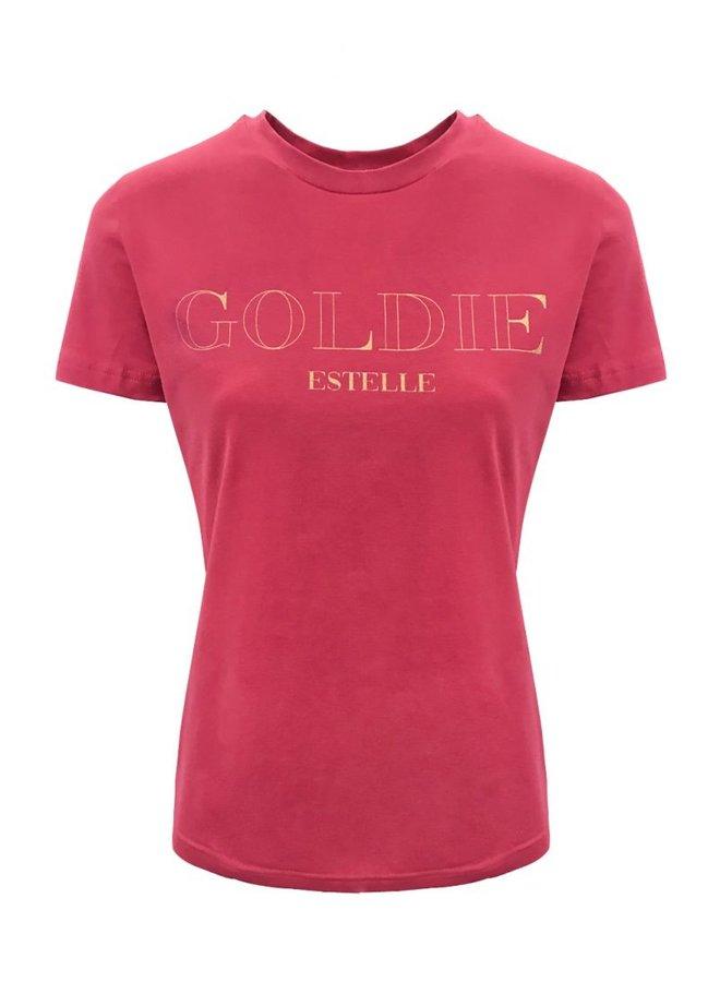Gold T-Shirt Fuchsia