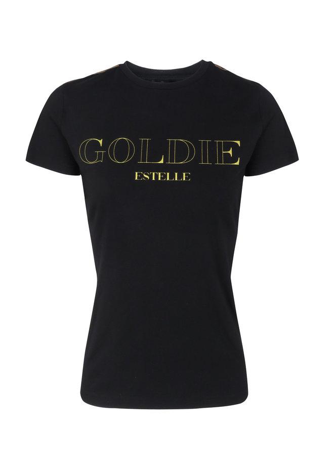 Gold T-Shirt Zwart