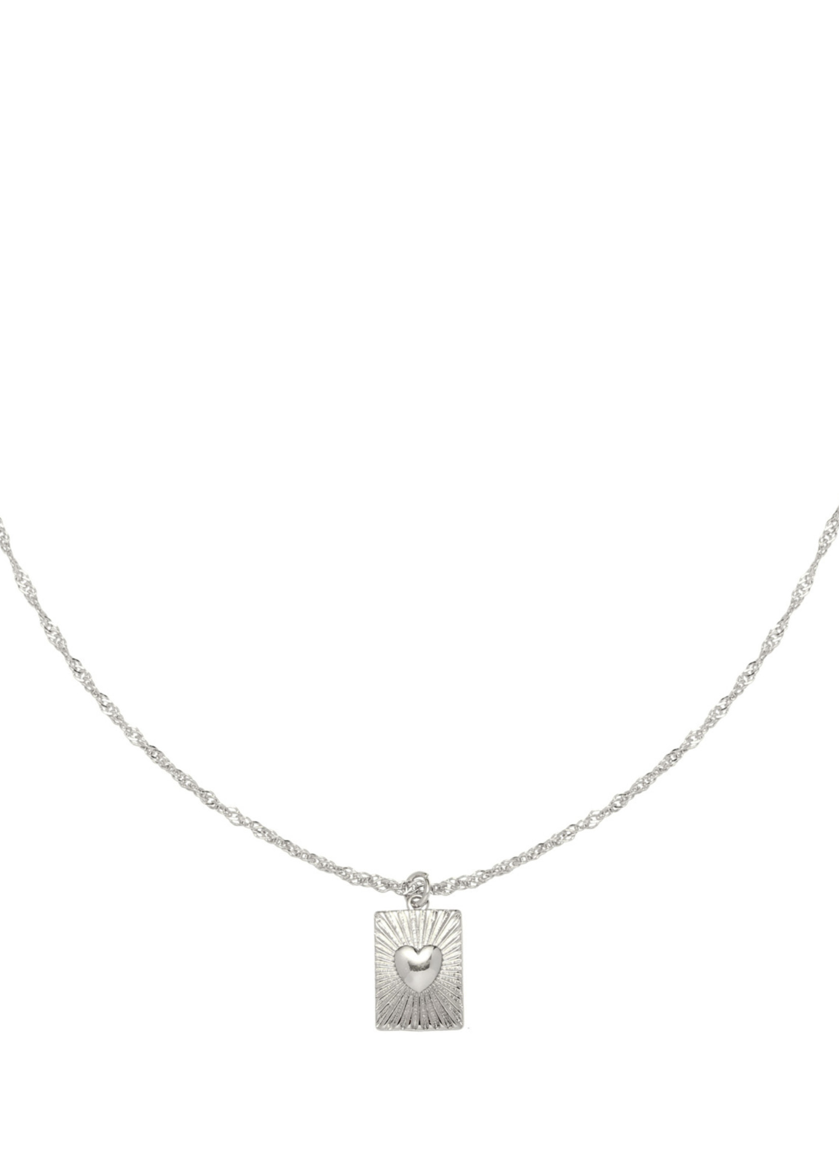 SHOW ME LOVE KETTING ZILVER