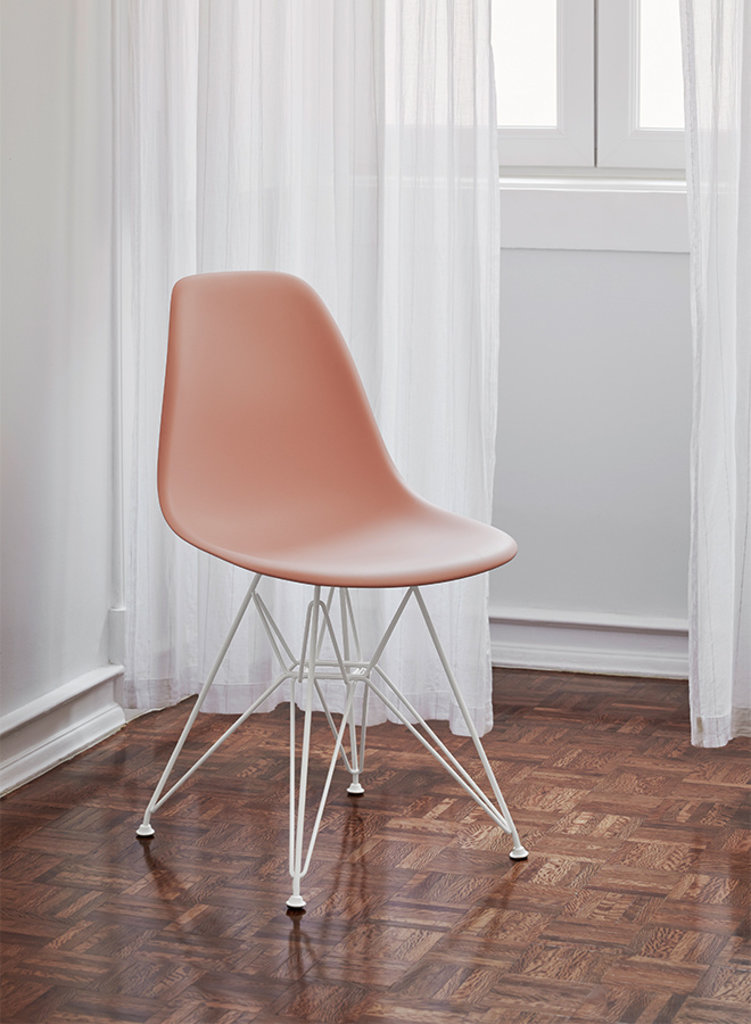 Eames Plastic Side Chair Dsr White, Eames Side Chair Wire Base