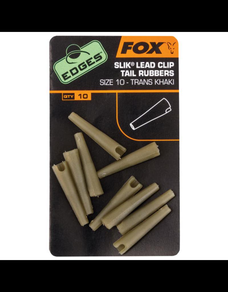 Fox Edges Fox Edges Slik Lead Clip Tail Rubbers Khaki Size 10