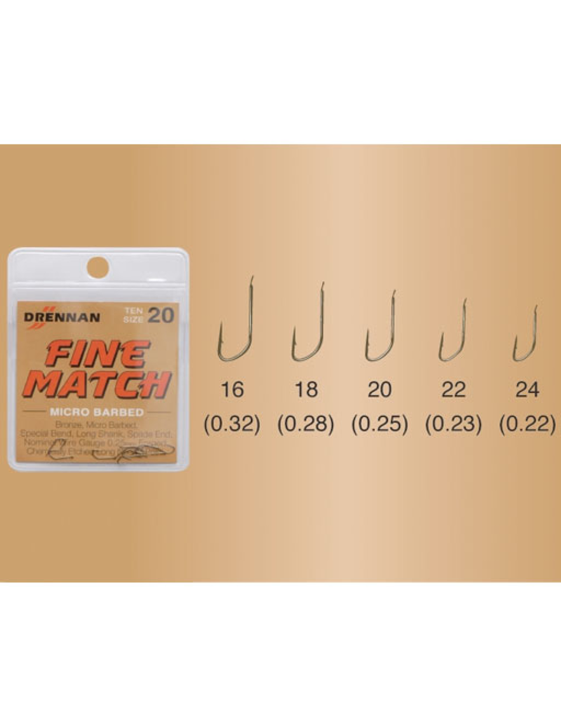 Drennan Drennan Fine Match Micro Barbed Hooks