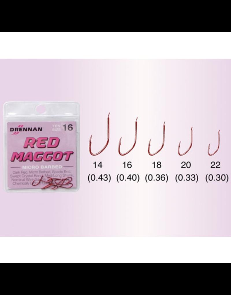 Drennan Drennan Red Maggot Micro Barbed Hooks