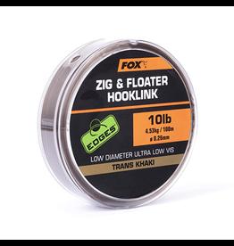 Fox Fox Edges Zig & Floater Hooklink Trans Khaki