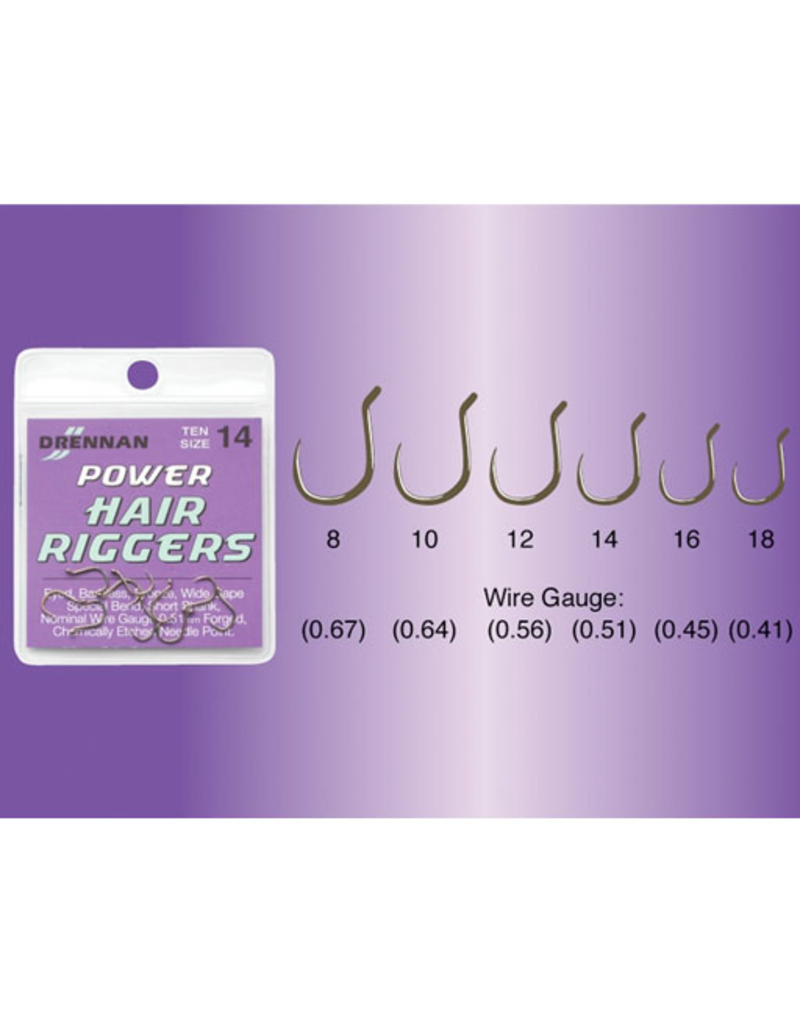 Drennan Drennan Power Hair Rigger Barbless Hooks