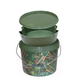 Kent Tackle Kent Tackle Round Camo Bucket 10ltr including Tray